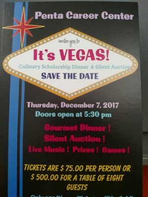 """It's VEGAS!"" Scholarship Dinner & Silent Auction is Dec. 7th"