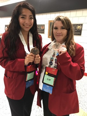 Pearson and Santos Place 3rd at SkillsUSA Nationals