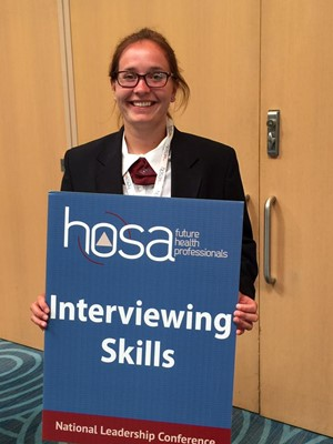 Sutton and Rickard Earn Top Awards at HOSA