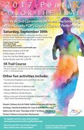 Penta K - Color the Trail 5K Run/Walk is September 30